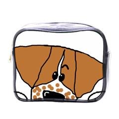 Peeping Brittany Spaniel Mini Toiletries Bags