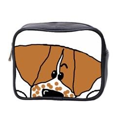 Peeping Brittany Spaniel Mini Toiletries Bag 2-Side