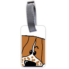 Peeping Brittany Spaniel Luggage Tags (Two Sides)