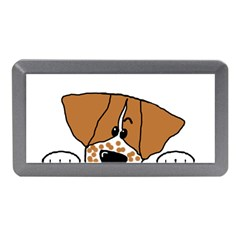 Peeping Brittany Spaniel Memory Card Reader (Mini)