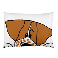 Peeping Brittany Spaniel Pillow Case (Two Sides)