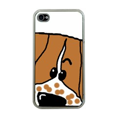 Peeping Brittany Spaniel Apple iPhone 4 Case (Clear)