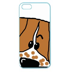 Peeping Brittany Spaniel Apple Seamless iPhone 5 Case (Color)
