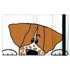 Peeping Brittany Spaniel Apple iPad 3/4 Flip Case