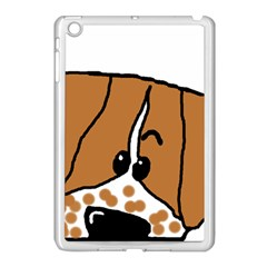 Peeping Brittany Spaniel Apple iPad Mini Case (White)