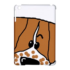 Peeping Brittany Spaniel Apple iPad Mini Hardshell Case (Compatible with Smart Cover)