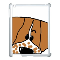 Peeping Brittany Spaniel Apple iPad 3/4 Case (White)