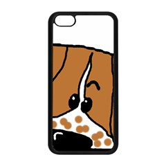 Peeping Brittany Spaniel Apple iPhone 5C Seamless Case (Black)