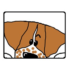 Peeping Brittany Spaniel Double Sided Fleece Blanket (Small)
