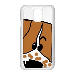 Peeping Brittany Spaniel Samsung Galaxy S5 Case (White)