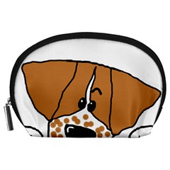 Peeping Brittany Spaniel Accessory Pouches (Large)