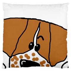 Peeping Brittany Spaniel Standard Flano Cushion Case (One Side)