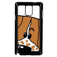 Peeping Brittany Spaniel Samsung Galaxy Note 4 Case (Black)