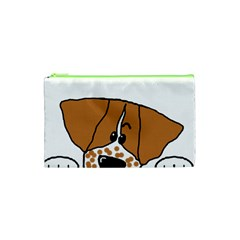 Peeping Brittany Spaniel Cosmetic Bag (XS)