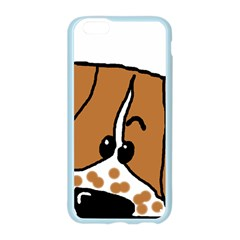 Peeping Brittany Spaniel Apple Seamless iPhone 6/6S Case (Color)