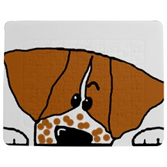 Peeping Brittany Spaniel Jigsaw Puzzle Photo Stand (Rectangular)