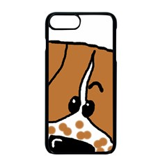 Peeping Brittany Spaniel Apple iPhone 7 Plus Seamless Case (Black)