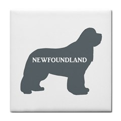 Newfie Name Silo Grey Tile Coasters