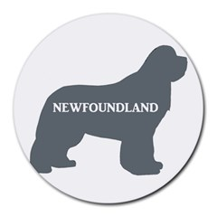 Newfie Name Silo Grey Round Mousepads