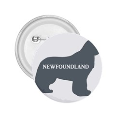 Newfie Name Silo Grey 2.25  Buttons