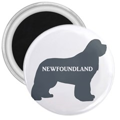 Newfie Name Silo Grey 3  Magnets