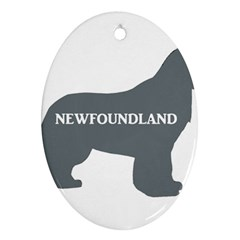 Newfie Name Silo Grey Ornament (Oval)