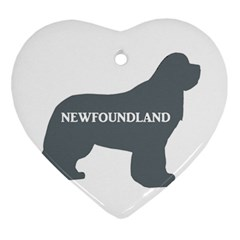 Newfie Name Silo Grey Ornament (Heart)