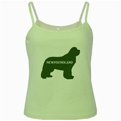 Newfie Name Silo Grey Green Spaghetti Tank