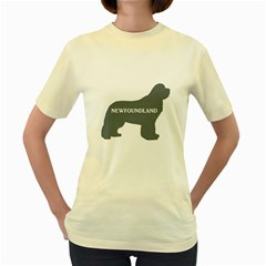 Newfie Name Silo Grey Women s Yellow T-Shirt