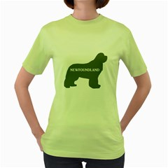 Newfie Name Silo Grey Women s Green T-Shirt