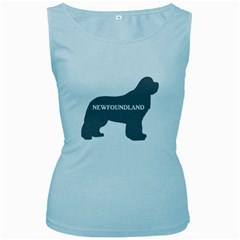 Newfie Name Silo Grey Women s Baby Blue Tank Top
