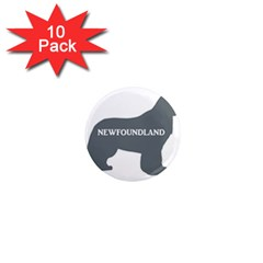 Newfie Name Silo Grey 1  Mini Magnet (10 pack)