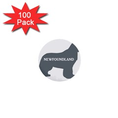 Newfie Name Silo Grey 1  Mini Buttons (100 pack)