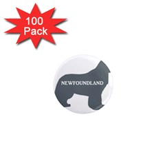 Newfie Name Silo Grey 1  Mini Magnets (100 pack)