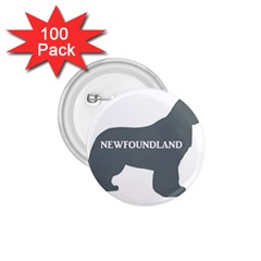 Newfie Name Silo Grey 1.75  Buttons (100 pack)