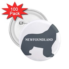 Newfie Name Silo Grey 2.25  Buttons (100 pack)