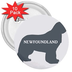 Newfie Name Silo Grey 3  Buttons (10 pack)