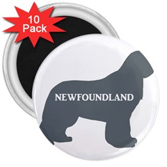 Newfie Name Silo Grey 3  Magnets (10 pack)