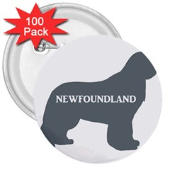 Newfie Name Silo Grey 3  Buttons (100 pack)