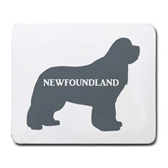 Newfie Name Silo Grey Large Mousepads