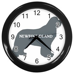 Newfie Name Silo Grey Wall Clocks (Black)