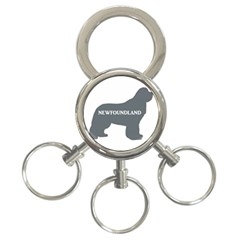 Newfie Name Silo Grey 3-Ring Key Chains