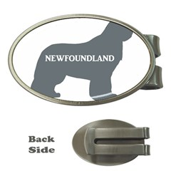 Newfie Name Silo Grey Money Clips (Oval)