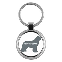Newfie Name Silo Grey Key Chains (Round)