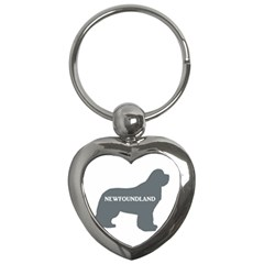 Newfie Name Silo Grey Key Chains (Heart)
