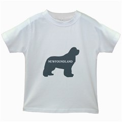 Newfie Name Silo Grey Kids White T-Shirts