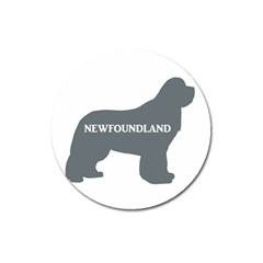 Newfie Name Silo Grey Magnet 3  (Round)