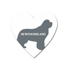 Newfie Name Silo Grey Heart Magnet