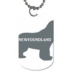 Newfie Name Silo Grey Dog Tag (One Side)