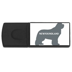 Newfie Name Silo Grey USB Flash Drive Rectangular (1 GB)